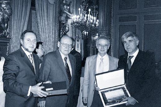 De izquierad a derecha, Tomás Recio Muñiz, Jesús Martín Tejedor, Enrique Ruiz-Ayúcar y Félix Repáraz.
