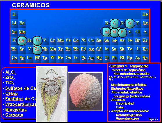 Fig. 5: Materiales cerámicos implantables